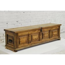 Mediterranean Trunk Coffee Table with Lift-Top
