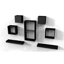 Wall Cube and Shelf (Set of 7)