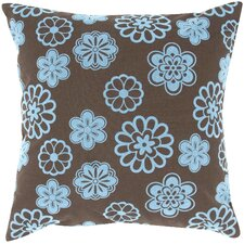 <strong>India's Heritage</strong> Flock Design Flowers Pillow