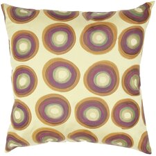 <strong>India's Heritage</strong> Dupioni Print Circle Design Silk Pillow