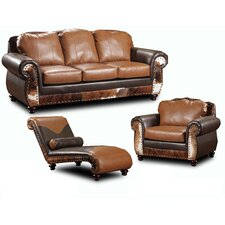 <strong>Chelsea Home</strong> Denver Leather Living Room Collection