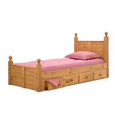 <strong>Chelsea Home</strong> Twin Panel Bed with Storage