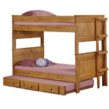 <strong>Chelsea Home</strong> Twin Over Twin Standard Bunk Bed with Trundle