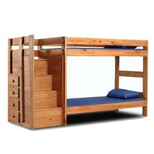 Twin Over Twin Standard Bunk Bed with Staircase
