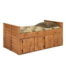 Twin Panel Bed with 4 Door Storage