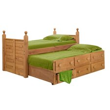 <strong>Chelsea Home</strong> Twin Panel Bed with 3 Drawers and Trundle Unit