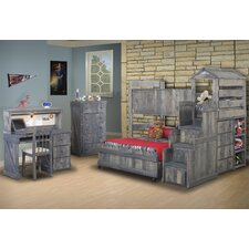 <strong>Chelsea Home</strong> Twin Over Full L-Shaped Bunk Bed with Stairway Chest