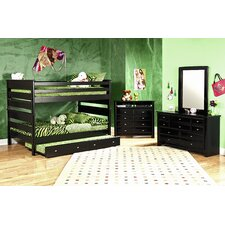 Full Over Full Standard Bunk Bed with Trundle