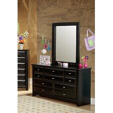 10 Drawer Dresser with Mirror