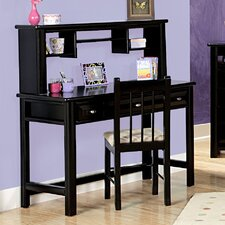 "48"" W Writing Desk with Optional Hutch"
