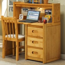 "40"" W Writing Desk with Hutch"