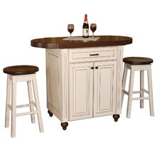 <strong>Chelsea Home</strong> Racheal Kitchen Island Set with Wood Stop