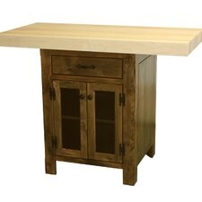 Ina Kitchen Island with Butcher Block Top
