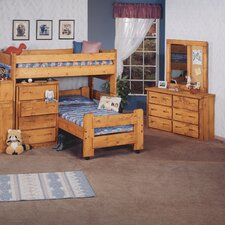 Twin Over Twin L-Shaped Bunk Bed