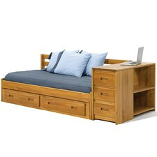 Daybed with Reversible End Storage and Underbed Storage