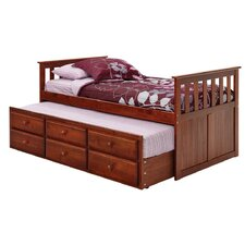 <strong>Chelsea Home</strong> Twin Captain Bed with Trundle and Storage