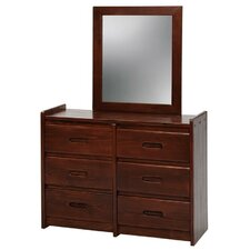 <strong>Chelsea Home</strong> 6 Drawer Dresser with Mirror