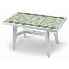 Rettango Rectangular Plastic DiningTable