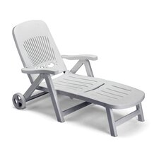 Splendido Folding Reclining Sun Lounger with Wheel
