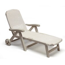 Smeraldo Folding Reclining Sun Lounger with Wheel