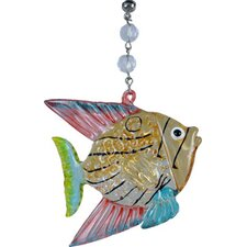 Beach Nautical Angel Fish Decorative Accent (Set of 3)