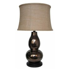 "28"" H Glazed Crackle Table Lamp"