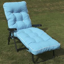 Maui Boxed and Piped Reclining Lounger with Cushions
