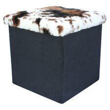 Medium Fur Top Ottoman
