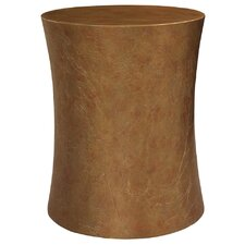 Textured Pedestal End Table