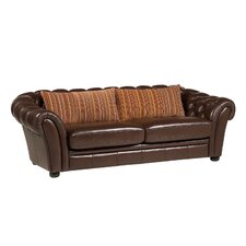 Maumo Semi Aniline Leather 3 Seater Sofa