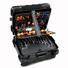 """Military-Ready"" Mechanical Hinged Tool Case: 9"" H x 18"" W x 15"" D"