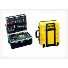 "<strong>Chicago Case Company</strong> Military Ready Wheeled Tool Case in Yellow with Cart: 18"" H x 15"" W x 12"" D"