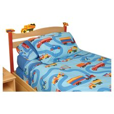 <strong>Room Magic</strong> Boys Like Trucks Twin Panel Headboard