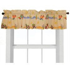 Cowboy Cotton Rod Pocket Tailored Curtain Valance