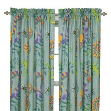 Little Lizard Cotton Rod Pocket Curtain Panel (Set of 2)