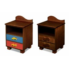 Boy Like Trucks 2 Drawer Nightstand