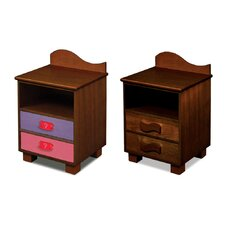 <strong>Room Magic</strong> Little Girl Tea Set 2 Drawer Nightstand