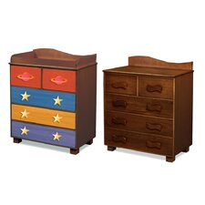 Star Rocket 5-Drawer Chest