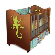 Little Lizards Crib / Toddler Bed in Chocolate
