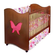 Butterfly Convertible Crib in Chocolate