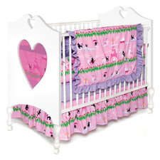 Poodles in Paris 4 Piece Crib Bedding Set