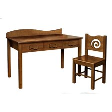 Chocolate Kids' 2 Piece Table and Chair Set