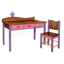 Little Girl Tea Set Kids' 2 Piece Table and Chair Set