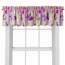 Magic Garden Cotton Rod Pocket Tailored Curtain Valance