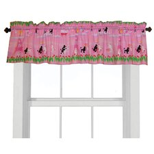 Poodles in Paris Cotton Curtain Valance