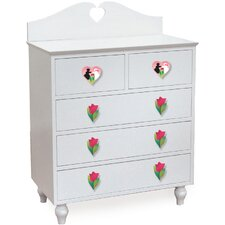 Heart 5-Drawer Chest