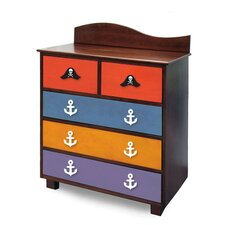 Pirate Pals 5 Drawer Chest