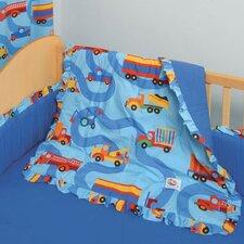 Boys Like Trucks 3 Piece Crib Bedding Set