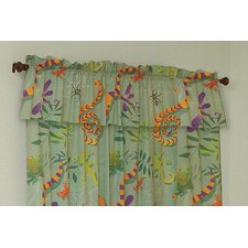 Little Lizards Cotton Rod Pocket Tailored Curtain Valance