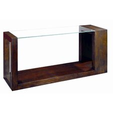 Dado Rectangular Glass Top Console Table
